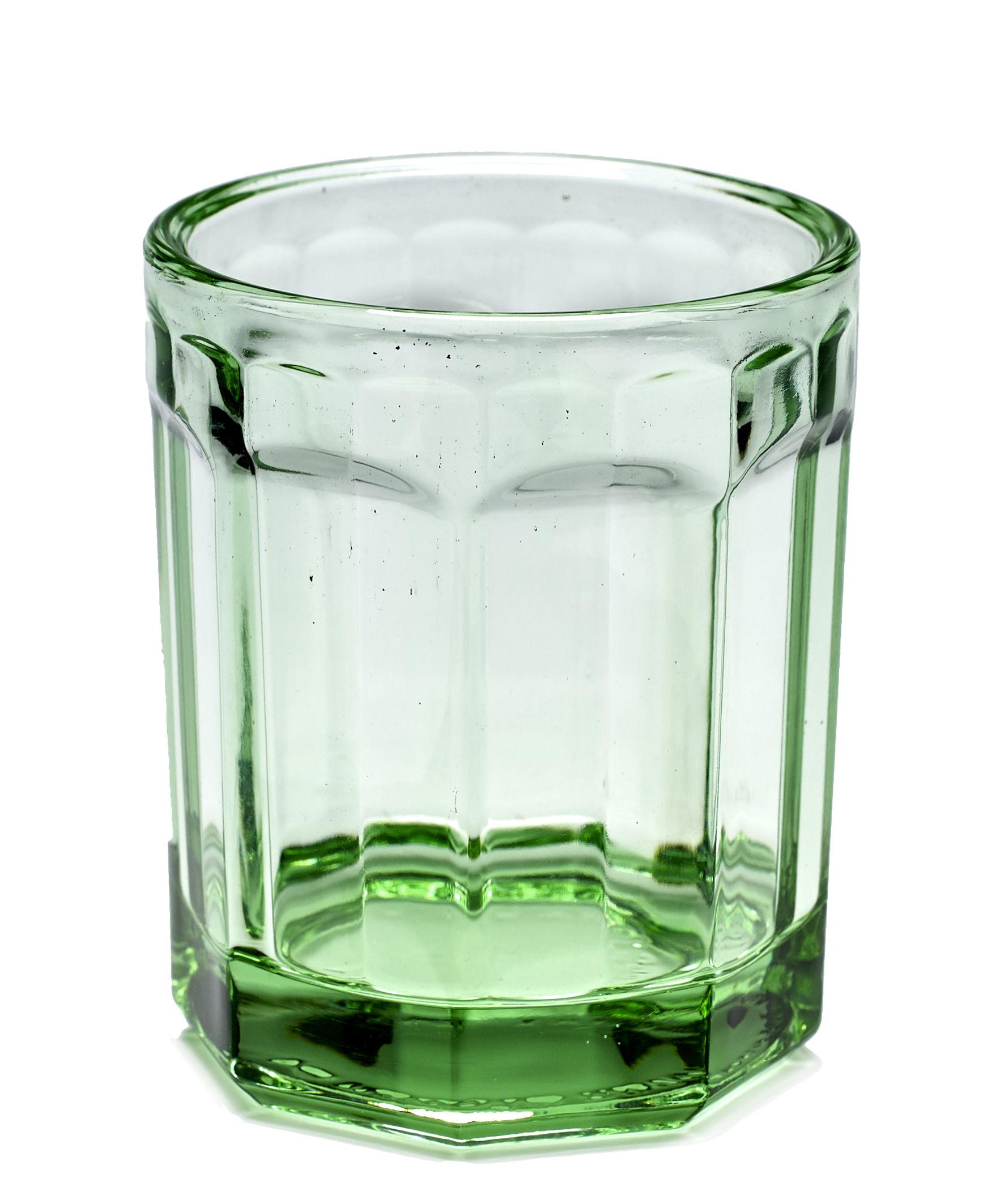 Tavola - Bicchieri  - Bicchiere Fish & Fish Medium / 22 cl - Serax - Verde trasparente - Vetro pressato