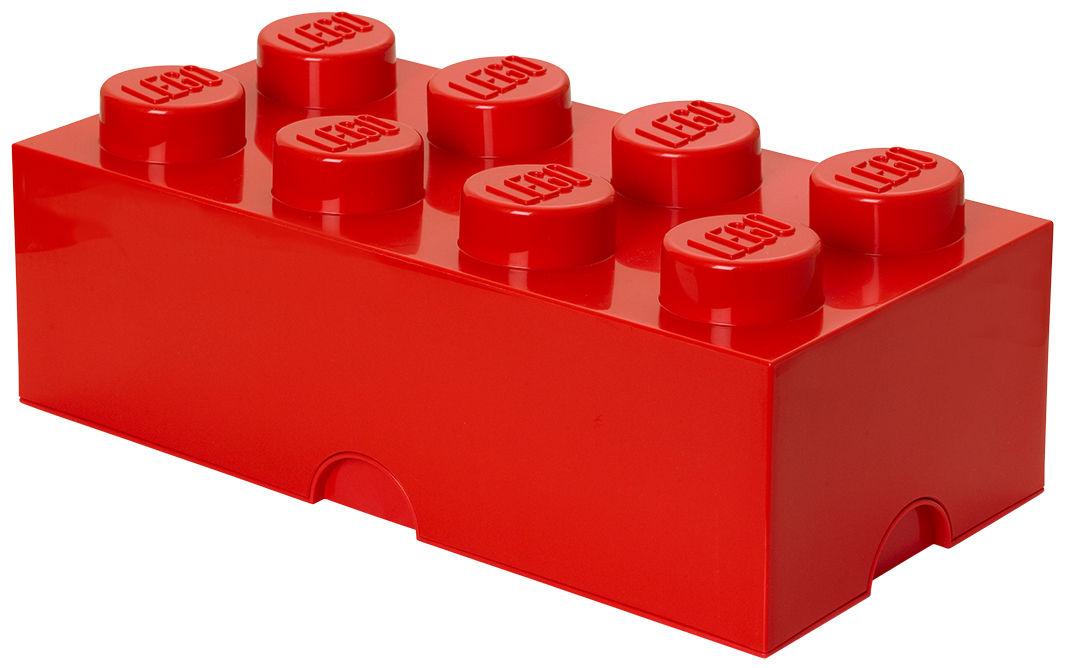 Déco - Pour les enfants - Boîte Lego® Brick / 8 plots - Empilable - ROOM COPENHAGEN - Rouge - Polypropylène
