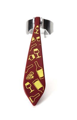 Tableware - Wine Accessories - Bottletie Bottle opener - / Tie by Pa Design - Pattern: Bottles & glasses - Polypropylene with glass fibre added, Stainless steel