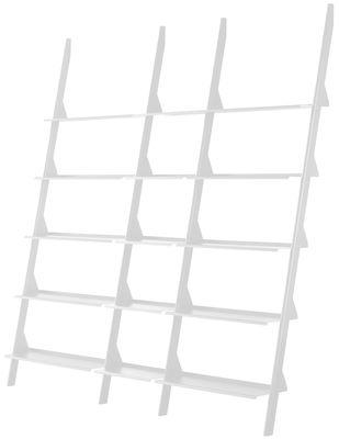 Möbel - Regale und Bücherregale - Tyke - The Wild Bunch Bücherregal / L 195 x H 211 cm - Magis - Weiß - gefirnister Stahl