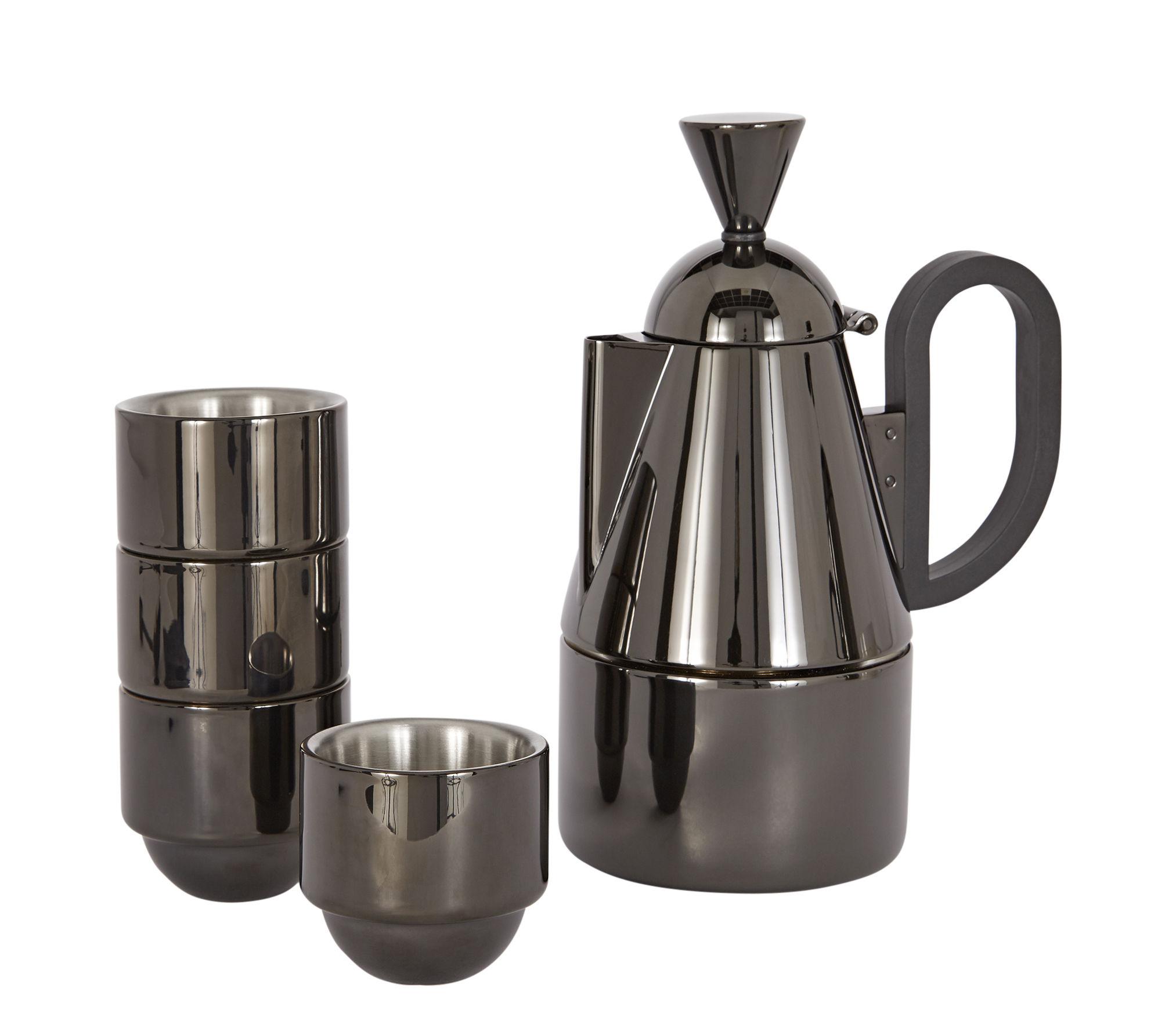 Cuisine - Cafetières - Cafetière italienne Brew / + 4 tasses - Tom Dixon - Noir métallisé - Acier inoxydable