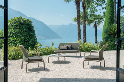 Cross Sofa 2 Sitze / für 2 Personen - Metall & Flechtwerk - Emu