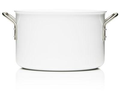 Cucina - Pentole, Padelle e Casseruole - Casseruola White Line - 7 l di Eva Trio - Bianco - Acciaio inossidabile, Alluminio, Ceramica