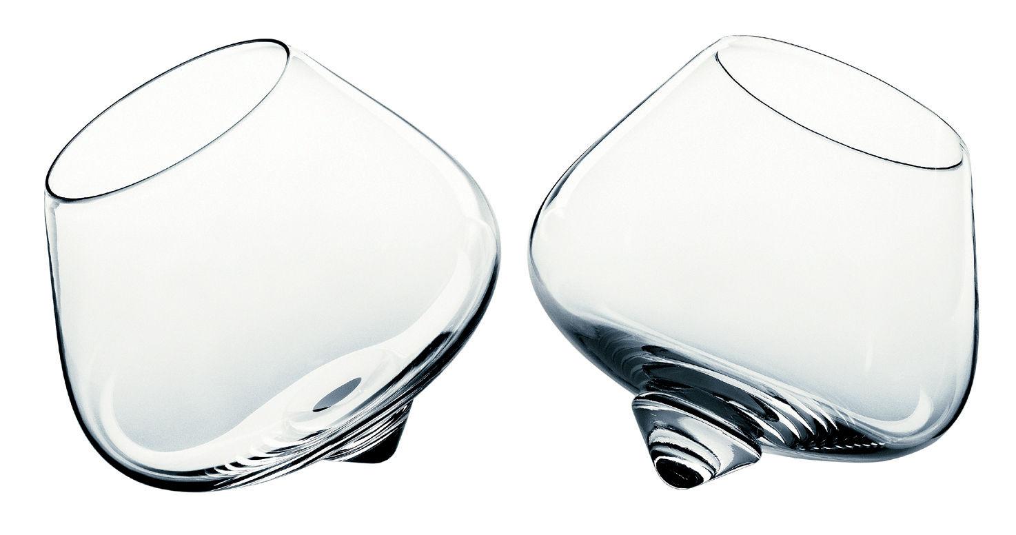 Tischkultur - Gläser - Cognac Glass Cognac Glas Set mit 2 schaukelnden Gläsern - Normann Copenhagen - Transparent - Glas
