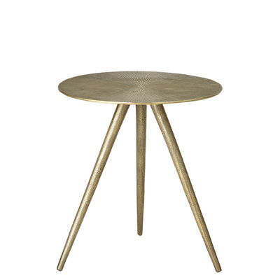 Furniture - Coffee Tables - Cardi End table - / Metal - Ø 42 x H 46 cm by Bloomingville - Old brass - Aluminium