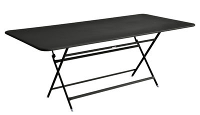 Outdoor - Garden Tables - Caractère Foldable table - 90 x 190 cm by Fermob - Liquorice - Painted steel