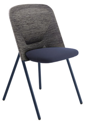Furniture - Chairs - Shift Folding chair - Padded - Fabric by Moooi - Blue / Grey - 3D technical fabric, Foam, Painted steel