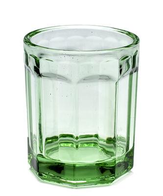 Tableware - Wine Glasses & Glassware - Fish & Fish Medium Glass - 22 cl by Serax - Transparent green - Pressed glass