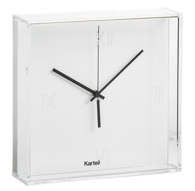 Horloge murale Tic & Tac / à poser ou suspendre - Kartell blanc en matière plastique