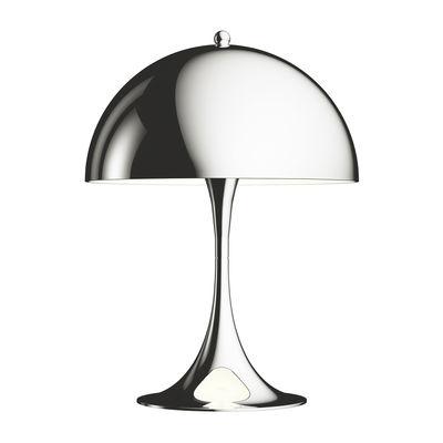 Lampe de table Panthella Mini LED / H 33,5 cm - Métal - Louis Poulsen chromé en métal