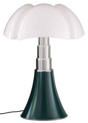 Luminaire - Lampes de table - Lampe de table Pipistrello / H 66 à 86 cm - Martinelli Luce - Vert Agave - Acier galvanisé, Aluminium laqué, Méthacrylate