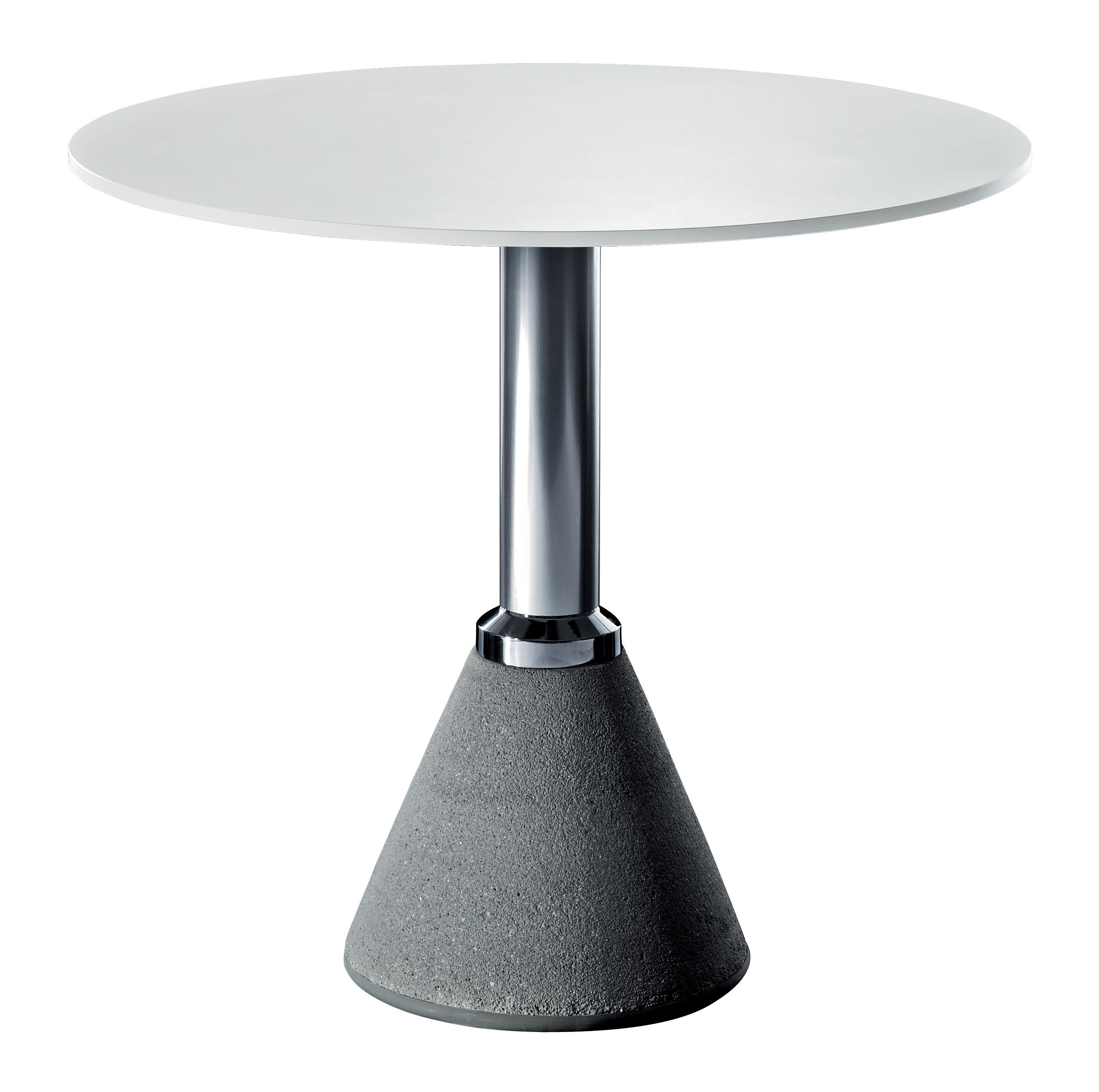 Jardin - Tables de jardin - Table ronde One Bistrot / Ø 79 cm - Magis - Blanc Ø 79 cm - Aluminium, Béton, HPL