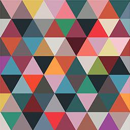 Déco - Stickers, papiers peints & posters - Papier peint Mosaic Classic / 2 lés - larg 91 cm - Bien Fait - Multicolore - Papier peint