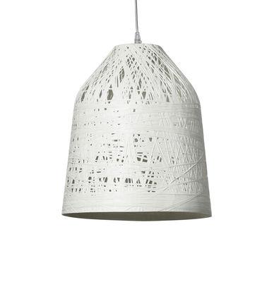 Lighting - Pendant Lighting - Black out Pendant - Indoor - H 40 x Ø 35 cm by Karman - White - Fibreglass