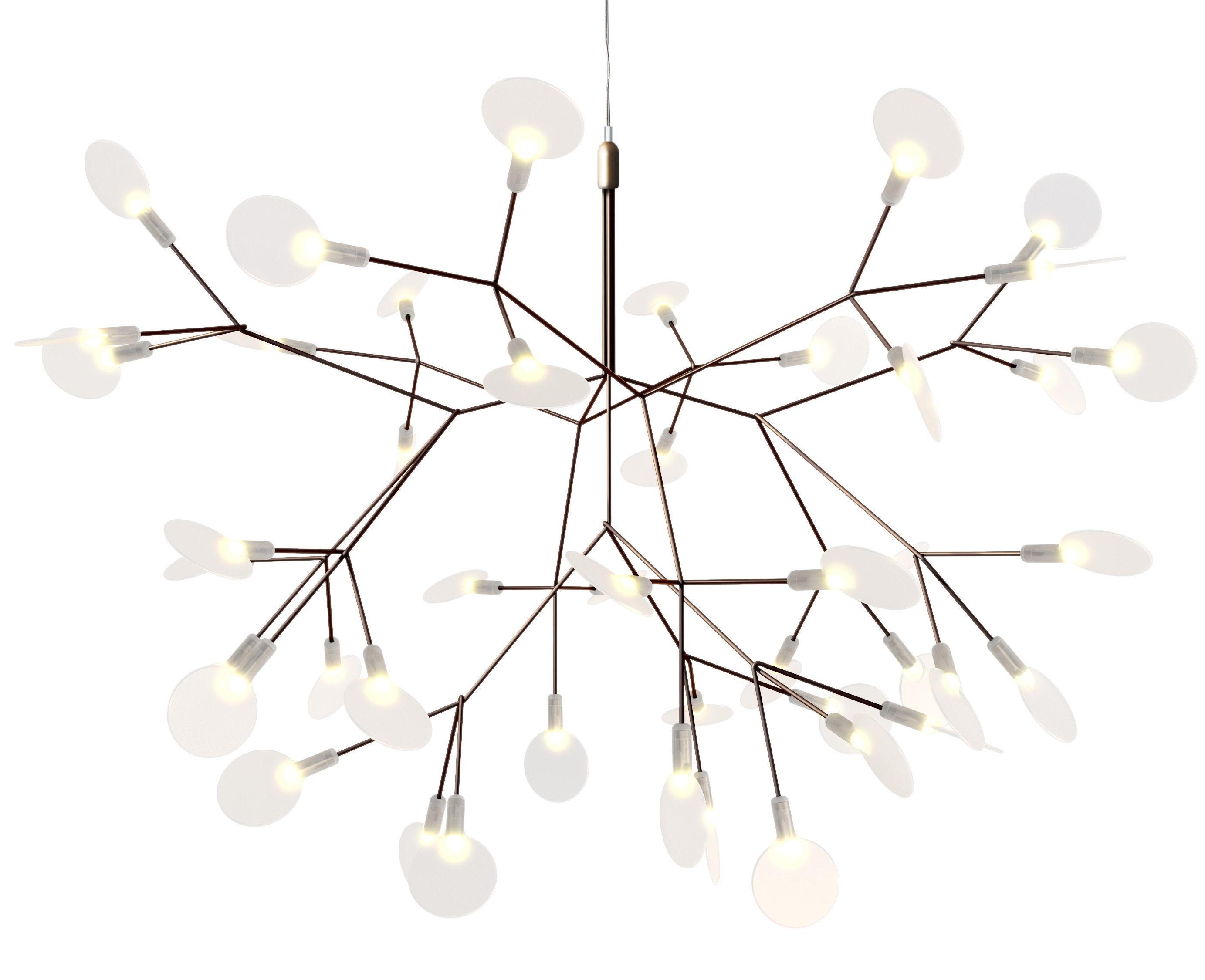 Leuchten - Pendelleuchten - Heracleum II Small Pendelleuchte / Ø 65 cm - Moooi - Kupfer - Metall, Polykarbonat, Stahl