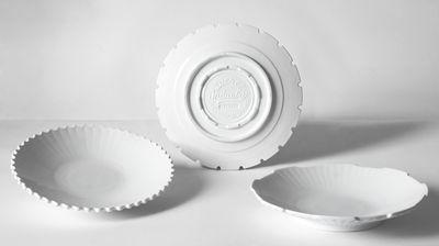 Tavola - Piatti  - Piatto fondo Machine Collection - / Ø 23,2 cm  - Set da 3 di Diesel living with Seletti - Bianco - Porcellana