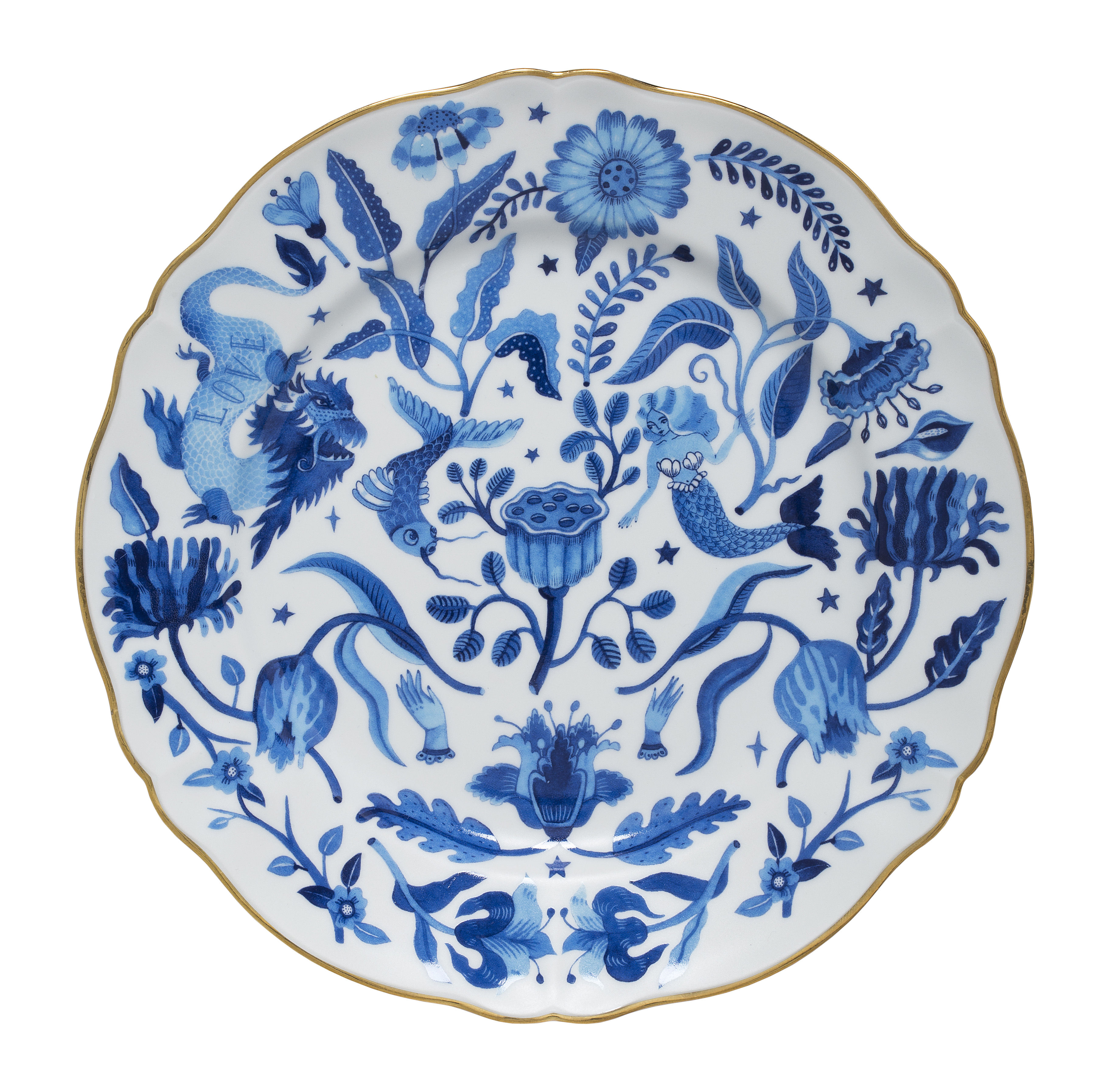 Tableware - Plates - All over Plate - / Ø 26.5 cm by Bitossi Home - All over - China
