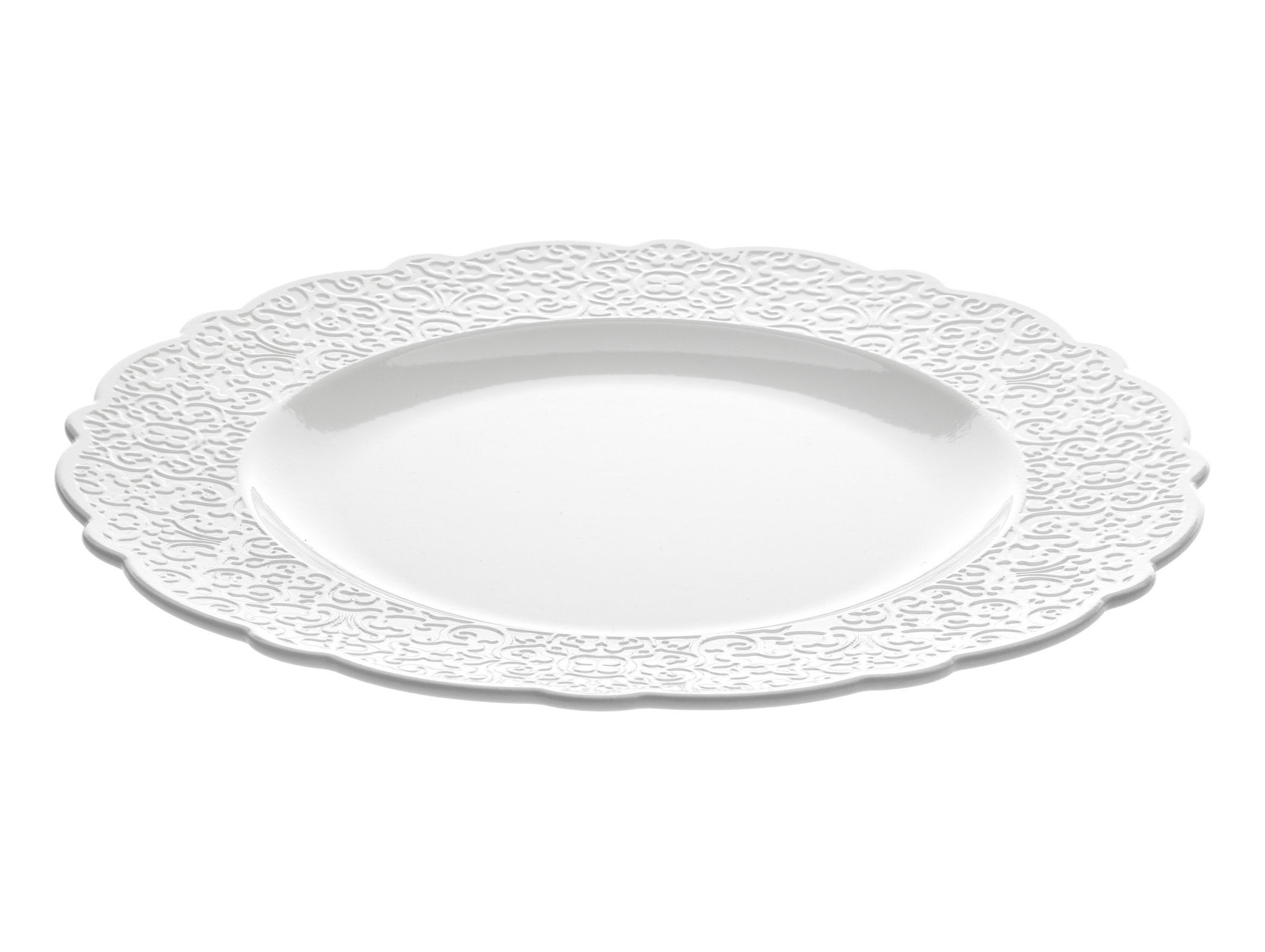 Tableware - Plates - Dressed Plate - Ø 27 cm by Alessi - White - China