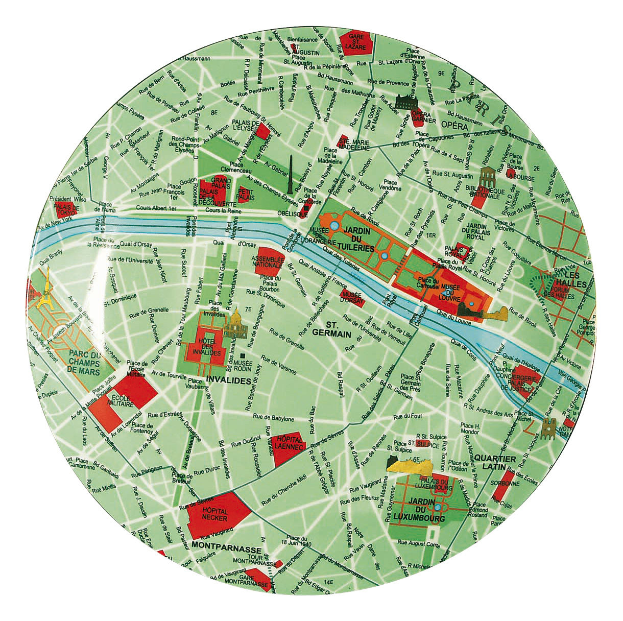 Kitchenware - Fun in the kitchen - The World Dinnerware Plate - Plate Paris by Seletti - Green, blue & red - China