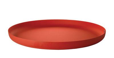 Plateau JM 14 / Acier - Ø 35 cm - Alessi rouge en métal