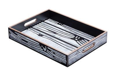 Plateau Wrongwoods / 44 x 30 cm - Established & Sons blanc,noir en bois
