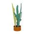 Portaombrelli Rain Plants - / Metallo - H 72,5cm di Seletti