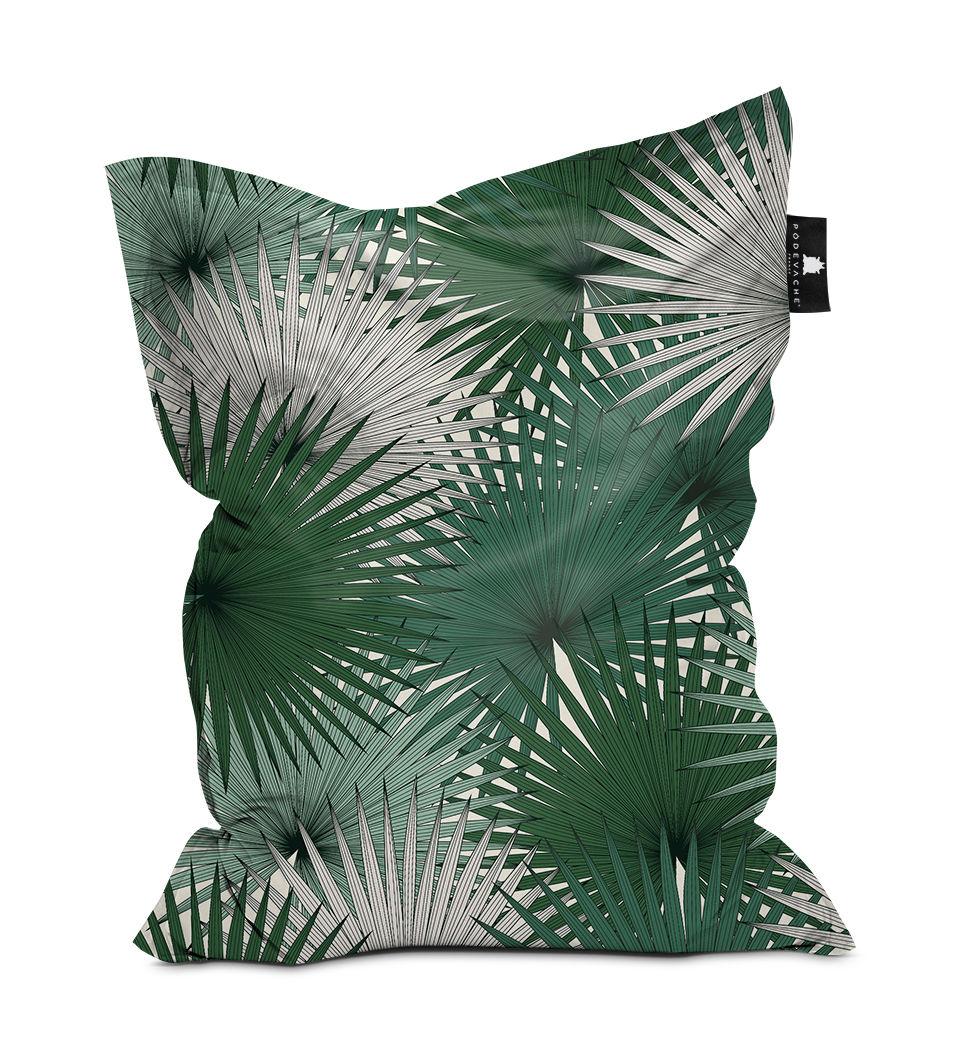 Mobilier - Poufs - Pouf Palm / Polyester - 140 x 180 cm - PÔDEVACHE - Vert -  Micro-billes EPS, Polyester