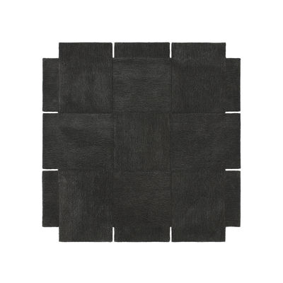 Decoration - Rugs - Basket Rug - / 180 x 180 cm - Hand-tufted by Design House Stockholm - Dark grey - Wool