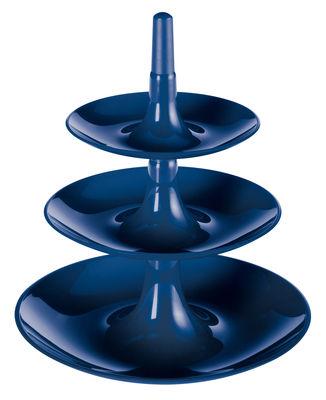 Serviteur Babell / Ø 31,4 x H 34 cm - Koziol bleu profond en matière plastique