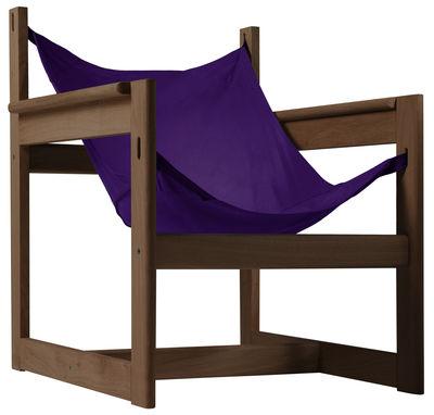 Pelicano Sessel - Objekto - Violett,Holz dunkel