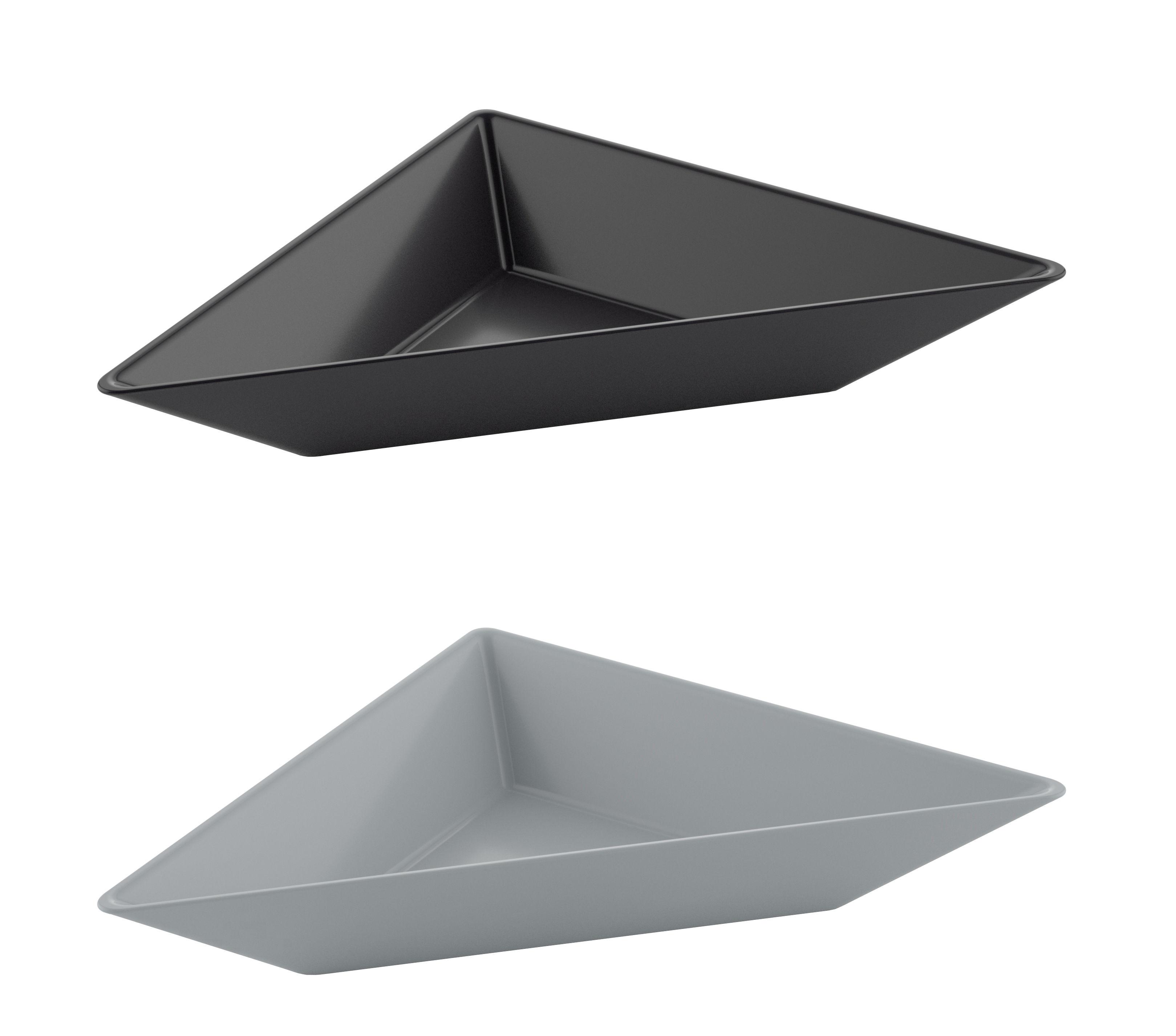 Tableware - Bowls - Tangram Small dish - / Set of 2 - 29 x 15 cm by Koziol - Blue-purple & pink - Plastic