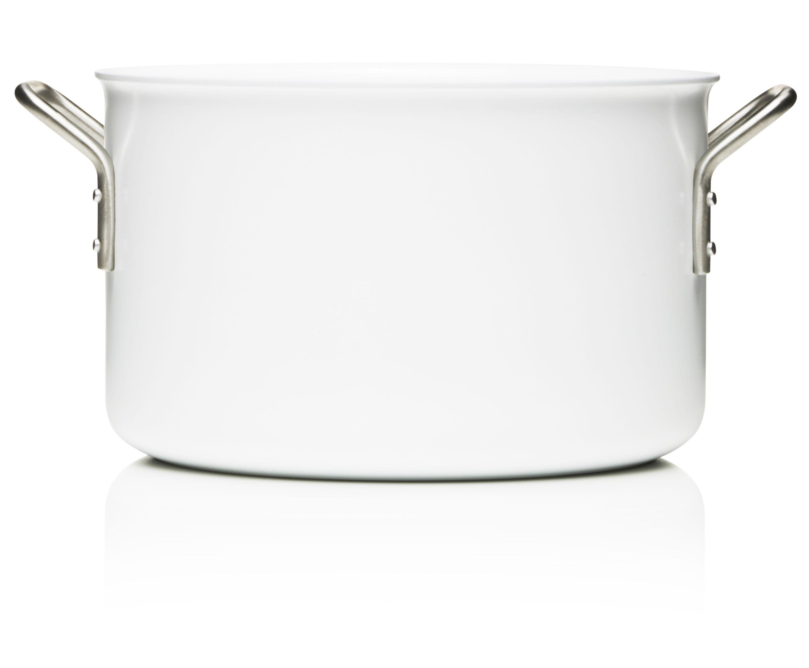 Kitchenware - Pots & Pans - White Line Stewpot - 7L - Web exclusivity by Eva Trio - White - Aluminium, Ceramic, Stainless steel
