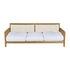 Synthesis Straight sofa - / L 210 cm - Teak & rope by Unopiu