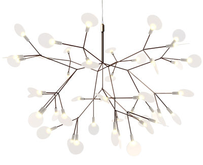 Luminaire - Suspensions - Suspension Heracleum II Suspended / Small - Ø 72 cm / LED - Moooi - Cuivre - Acier, Métal, Polycarbonate