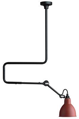 Luminaire - Suspensions - Suspension N°312 / H de 66 à 116 cm - Lampe Gras - DCW éditions - Rouge - Acier