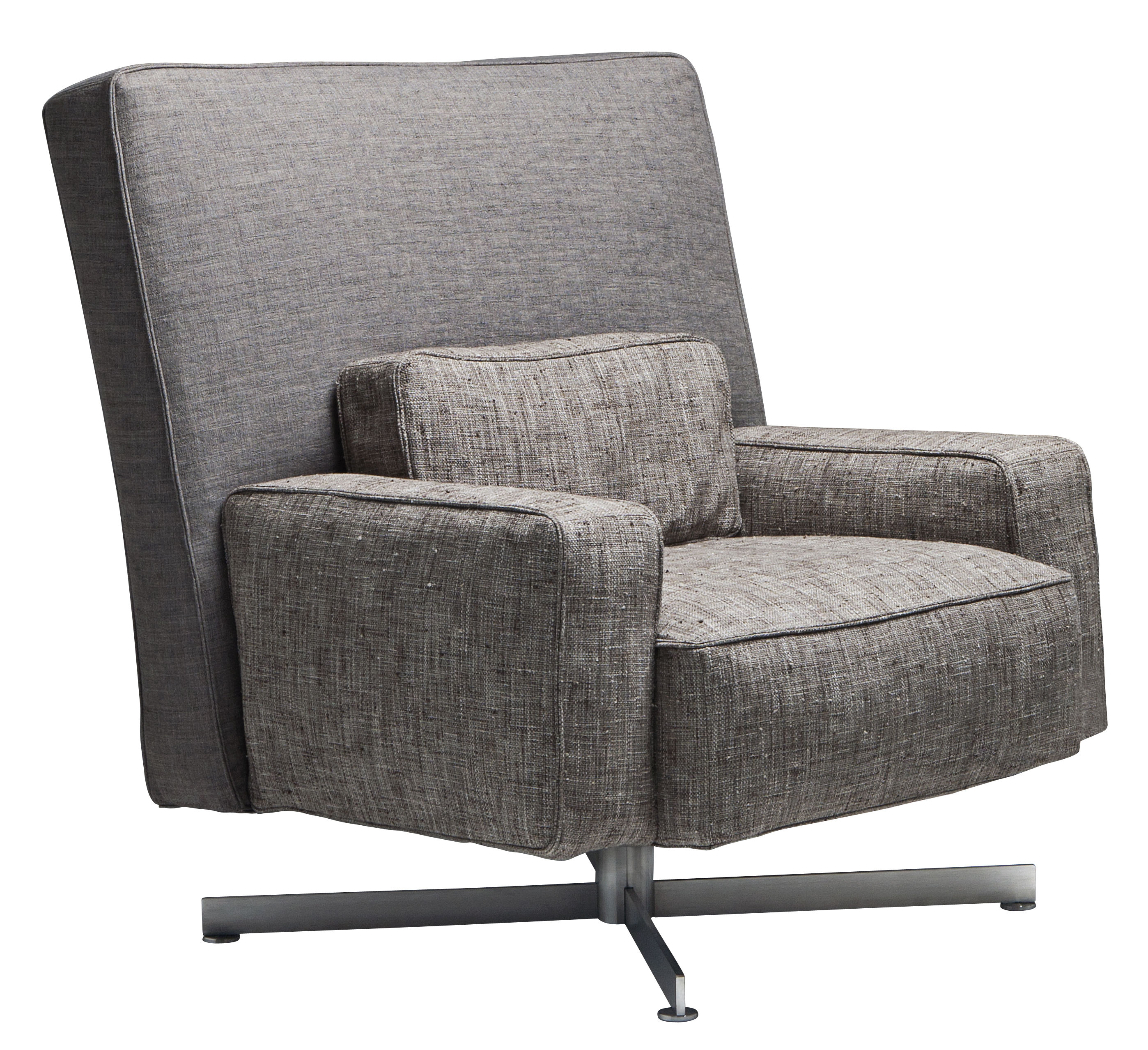 Driade Cinemascope Swivel armchair - Grey/Beige | Made In ...