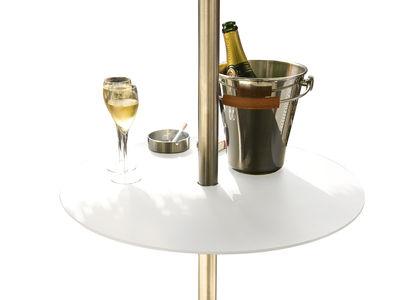 Table basse BlaBla pour parasol - Réglable en hauteur - Symo blanc en métal