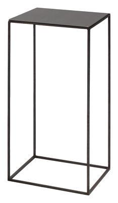 Table basse Slim Irony / 31 x 31 x H 64 cm - Zeus noir cuivré,noir phosphaté en métal