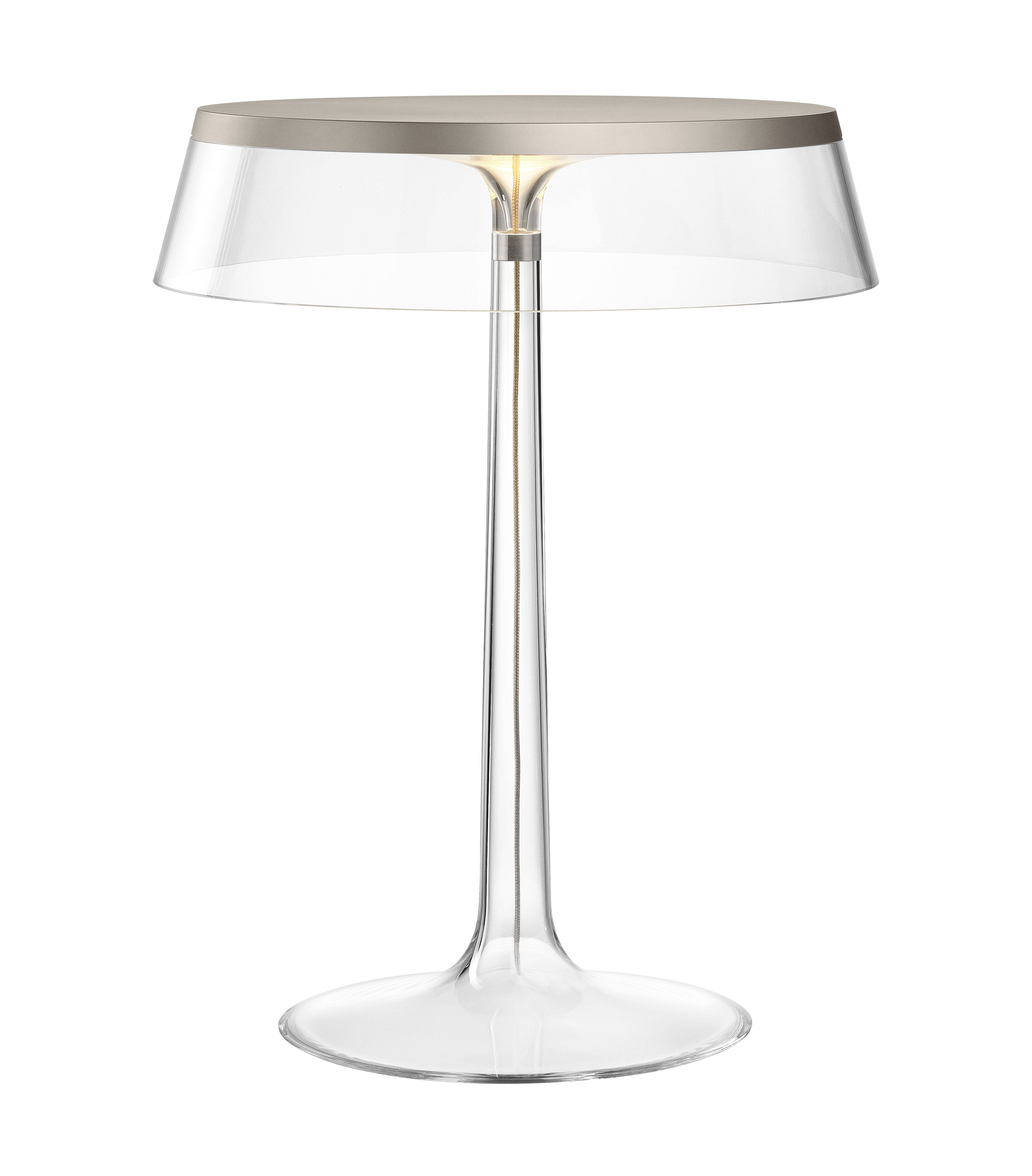 Lighting - Table Lamps - Bon Jour Table lamp - LED  / H 41 cm by Flos - Satined metal / Transparent - PMMA