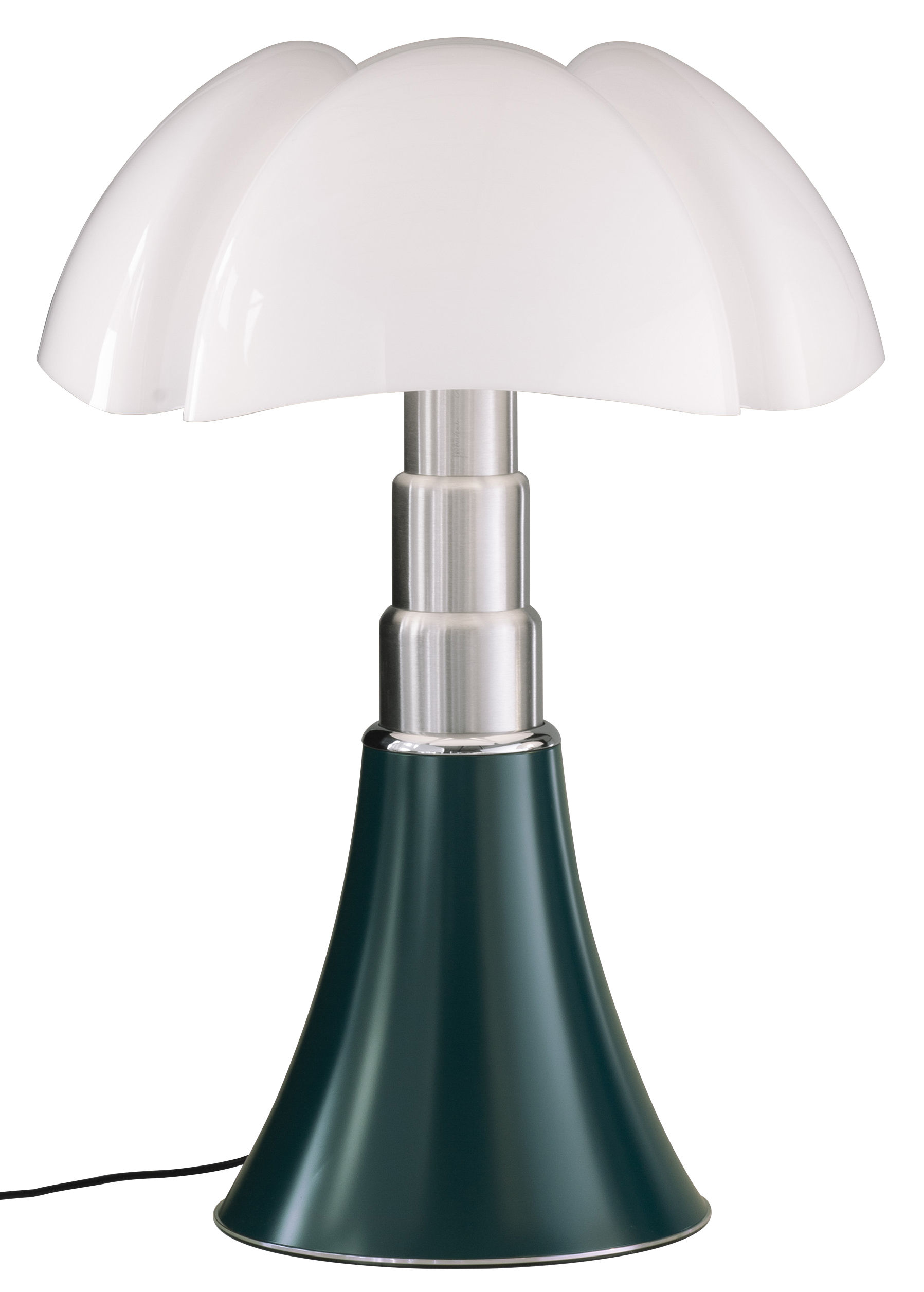 Lighting - Table Lamps - Pipistrello Table lamp - / H 66 to 86 cm by Martinelli Luce - Agave Green - Galvanized steel, Lacquered aluminium, Methacrylate