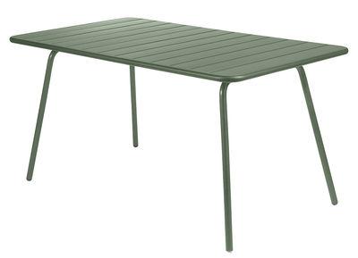 Table Luxembourg / 6 personnes - 143 x 80 cm - Aluminium - Fermob cactus en métal