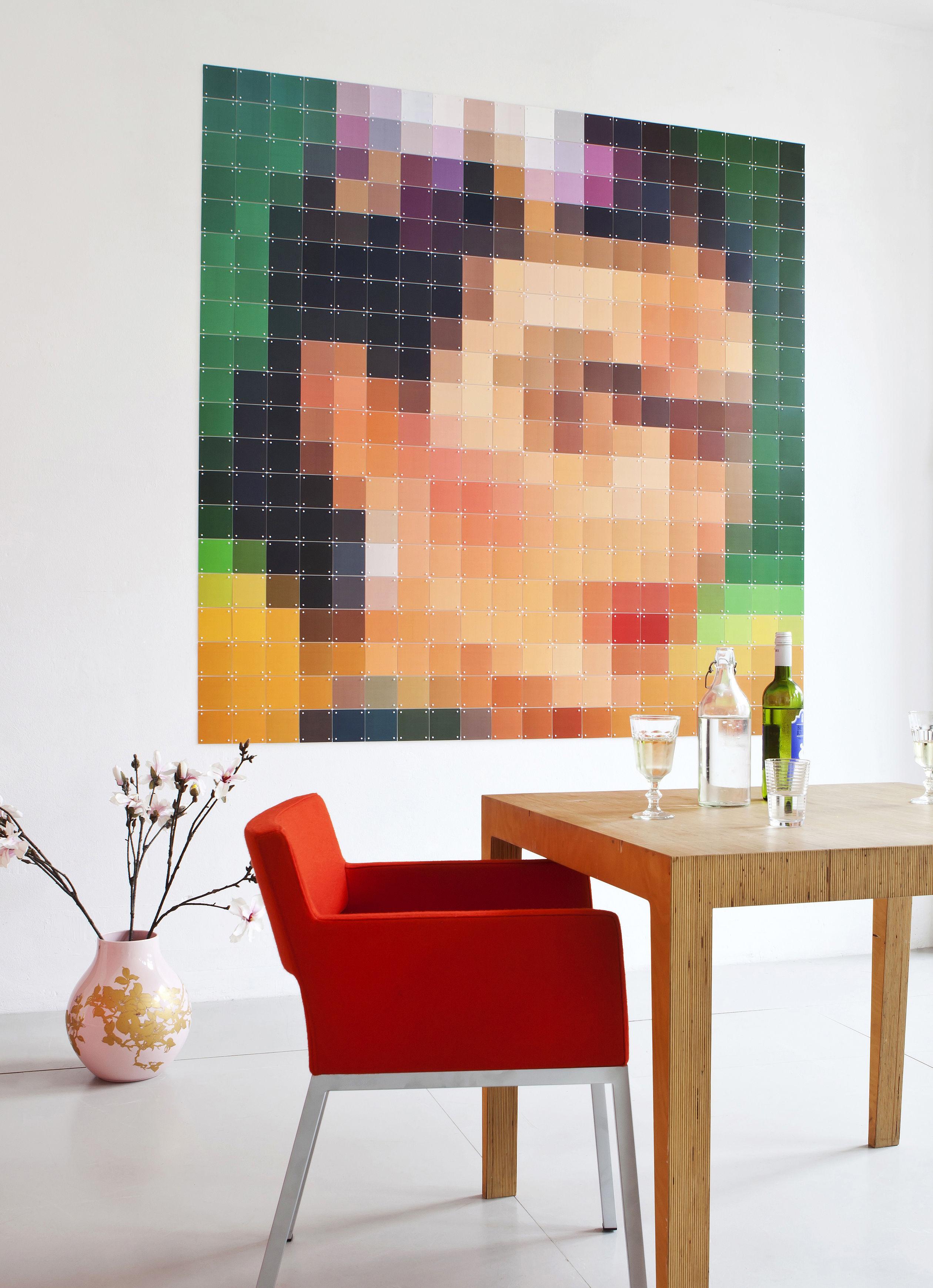 Déco - Objets déco et cadres-photos - Tableau Frida Kahlo / 200 x 200 cm - ixxi - Multicolore / Frida - Papier synthétique
