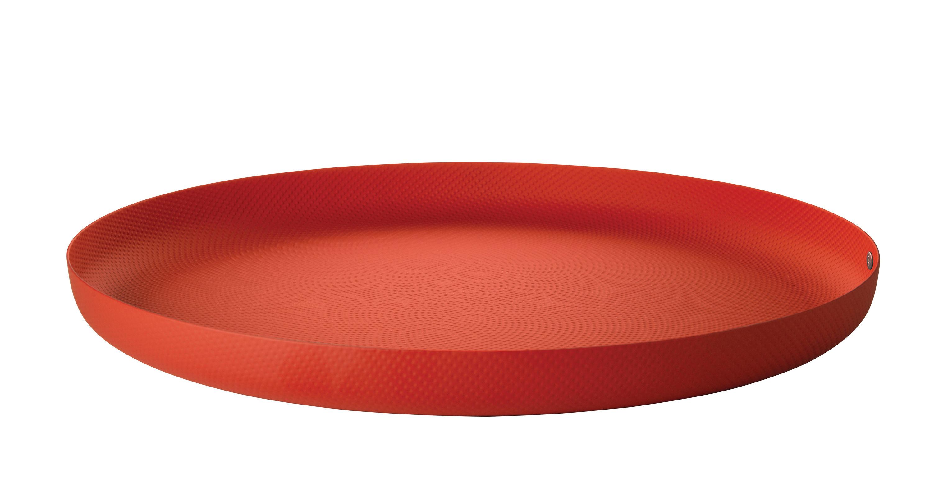 Tischkultur - Tabletts - JM 14 Tablett / Stahl - Ø 35 cm - Alessi - Rot - bemalter Stahl