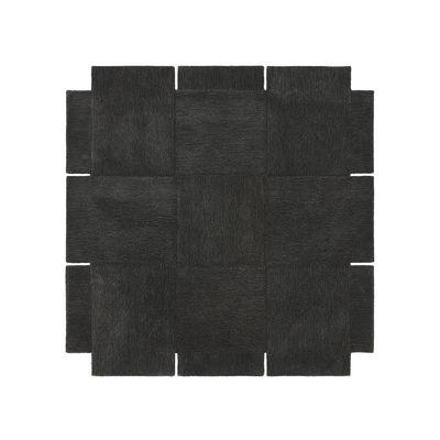 Dekoration - Teppiche - Basket Teppich / 180 x 180 cm - Handgetuftet - Design House Stockholm - Dunkelgrau - Wolle