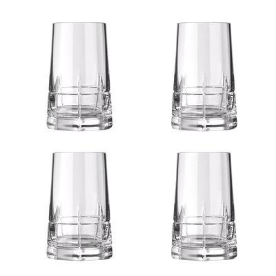 Arts de la table - Verres  - Verre à liqueur Graphik / Coffret 4 pièces - Cristal soufflé bouche - Christofle - Transparent - Cristal soufflé bouche
