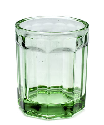Arts de la table - Verres  - Verre Fish & Fish Medium / 22 cl - Serax - 22 cl / Vert - Verre pressé