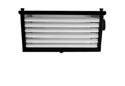 Lighting - Wall Lights - Biny Box LED Wall light - / 1957 reissue - L 17 cm by DCW éditions - Black / White fins - Aluminium, Steel