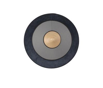 Cymbal LED Wandleuchte / Small - Ø 34 cm - Stoff - Forestier - Dunkelblau,Eiche natur