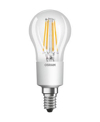 Ampoule LED E14 dimmable / Sphérique claire - 4,5W=40W (2700K, blanc chaud) - Osram transparent en verre