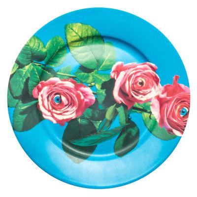 Assiette Toiletpaper - Roses / Porcelaine - Seletti multicolore en céramique